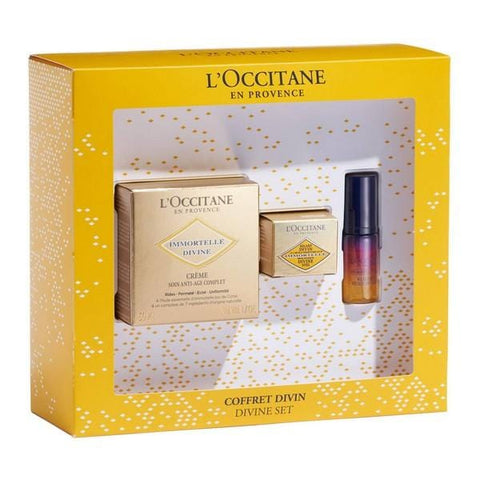 Women's Cosmetics Set Divine Immortelle L'occitane (3 pcs) - Beautyshop.ie
