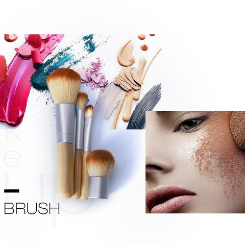Eco Friendly Bamboo 4 Piece Make-Up Brush Set - Beautyshop.ie