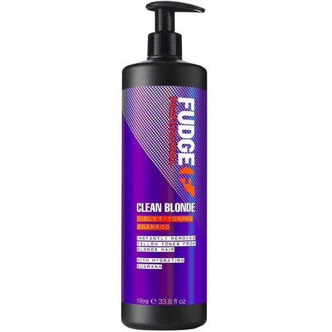 Fudge Clean Blonde Violet Toning Shampoo 1000ml - Beautyshop.dk