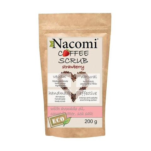 Nacomi Coffee Scrub 200g - Strawberry - Beautyshop.ie