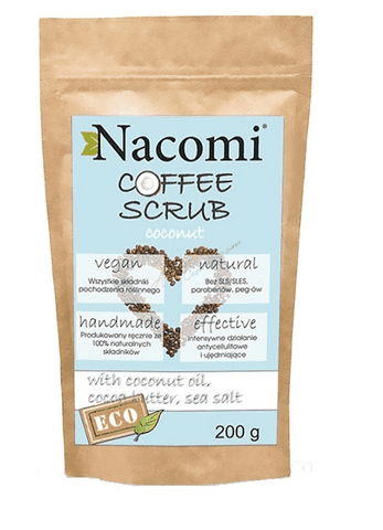 Nacomi Coffee Scrub 200g - Coconut - Beautyshop.ie