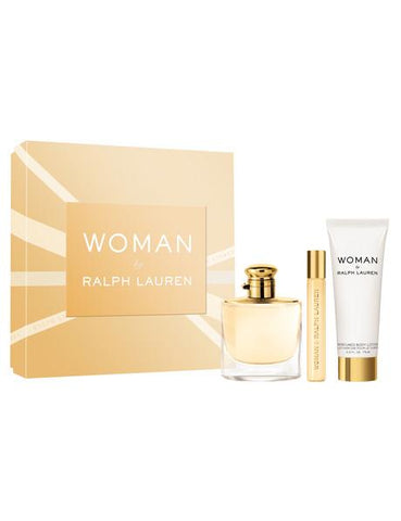 Ralph Lauren Woman By Ralph Lauren Gift Set 50ml EDP + 10ml EDP + 75ml Lotion pour le corps - Beautyshop.fr