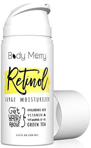 Body Merry Organic Retinol Moisturiser - Big (100ml) Anti-Aging/Wrinkle & Acne Face Cream - Beautyshop.ie