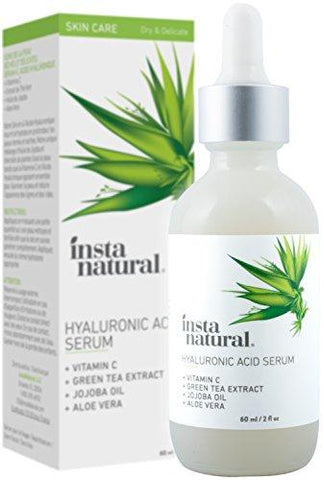 InstaNatural Hyaluronic Acid Serum for Dry Skin on Face (60 ml) - Beautyshop.ie