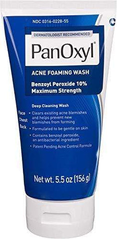 PanOxyl Acne Foaming Wash Benzoyl Peroxide 10% Maximum Strength Antimicrobial - 156ml - USA No 1 Bästsäljande Acne Treatment - Beautyshop.se