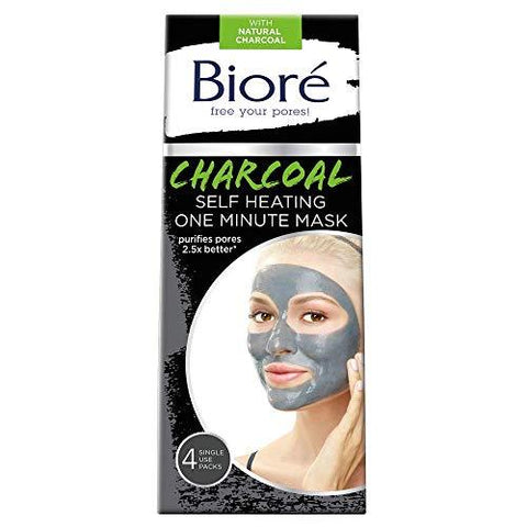 Biore Self Heating One Minute Mask 4 Count - Beautyshop.ie