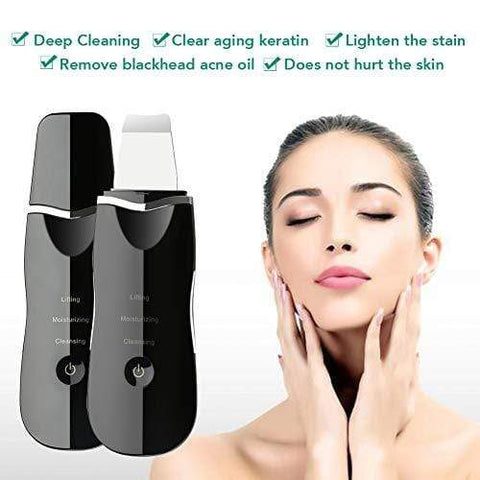 Portable Ultrasonic Facial Skin Scrubber