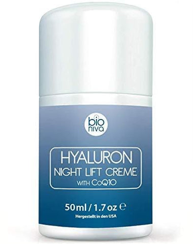 BIONIVA Hyaluron Aurpegi Igogailua Night Cream wi CoQ10 - 50ml