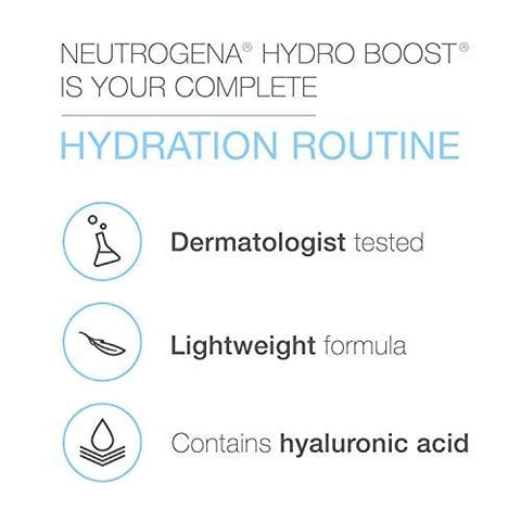 Neutrogena Hydro Boost Series, 3-Step Facial Regime Set (Cleanser + Moisturiser + Booster) - Beautyshop.ie
