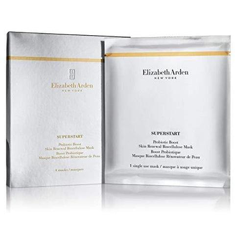 Elizabeth Arden Superstart Probiotic Boost Skin Renewal Biocellulose Face Mask, Pack