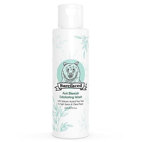 BeBarefaced Natural Anti Blemish Tea Tree and Salicylic Acid (BHA) Exfoliating Face Wash - Beautyshop.ie