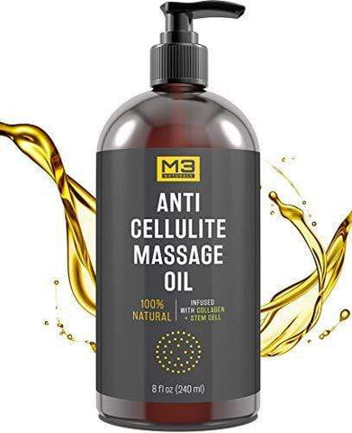 M3 Naturals Anti Cellulite Massage Oil Infused with Collagen (240ml) - Beautyshop.ie