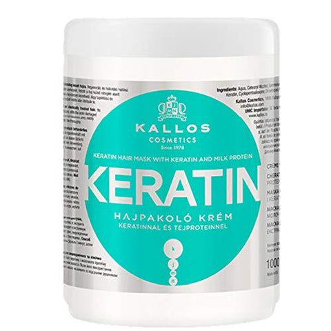 Kallos Keratin Hair Mask, Berdea, Uretakoa, 1000ml - Beautyshop.ie