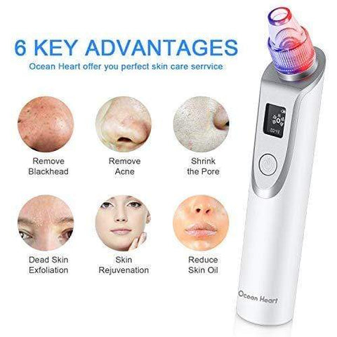 2020 Newest Version Pore Vacuum with Blue/RED light for Pore Contraction and Skin Rejuvenation