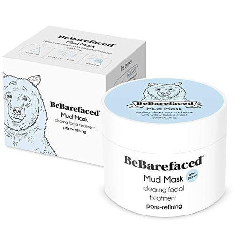 BeBarefaced Mud Mask - Pore Refining Blackhead and Acne Treatment Face Mask - Beautyshop.ie