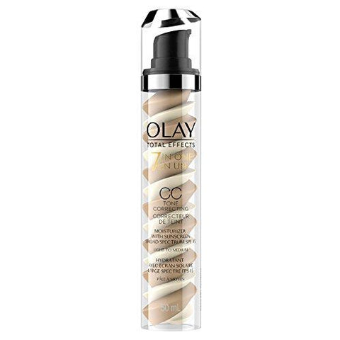 CC Cream by Olay, Total Effects Tone Correcting Moisturizer with SPF, Light to Medium - Beautyshop.ie