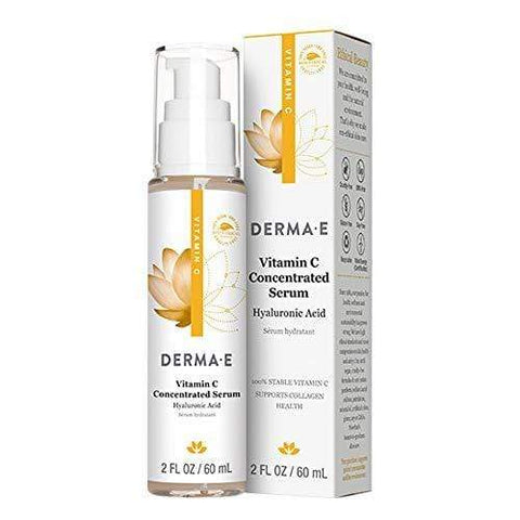 DERMA E Vitamin C Concentrated Serum with Hyaluronic Acid, Antioxidant Protection - Large (60ml) - Beautyshop.ie