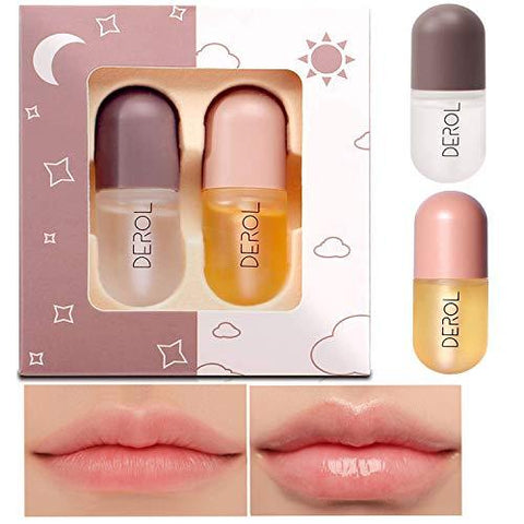 Набор для ухода за губами Derol Lip Day & Night Care Plumper Set
