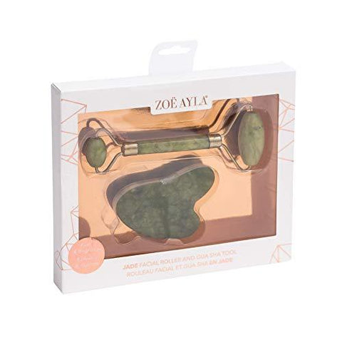 Zoë Ayla Jade Roller and Gua Sha Set