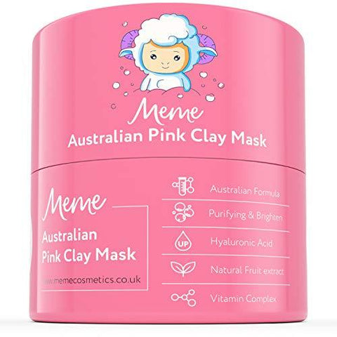 Mască MeMe Australian Pink Clay 100% Natural Caolin Clay 4.23oz / 120g - Beautyshop.ro