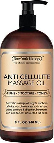 New York Biology Anti Cellulite Treatment Massage Oil - All Natural Ingredients (240ml)