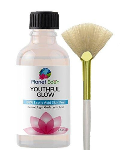 Planet Eden 88% Lactic Acid Chemical Skin Peel With Fan Brush   Professional Strength For Wrinkles, - Beautyshop.ie