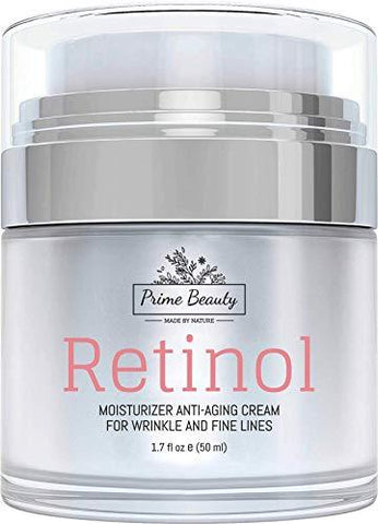Prime Beauty Retinol Moisturiser Cream for Face and Eye Area - (50ml) - Beautyshop.ie