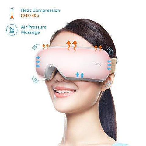 Breo iSeeM Eye Massager Cordless Electric Eye Mask Massage with Shiatsu - Beautyshop.ie