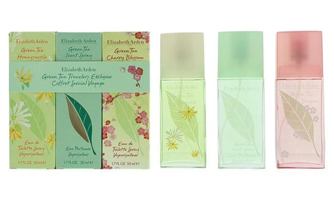 Elizabeth Arden Green Tea Opari sorta 50ml Green Tea EDP + 50ml Green Tea Honeysuckle EDT + 50ml Green Tea Cherry Blossom EDT