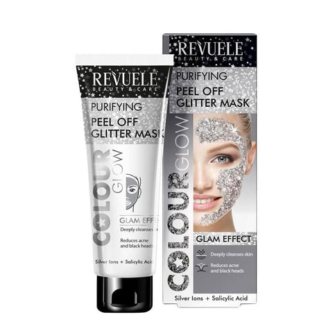 Revuele Purifying Peel Off Glitter Mask stříbrná - 80ml - Beautyshop.ie
