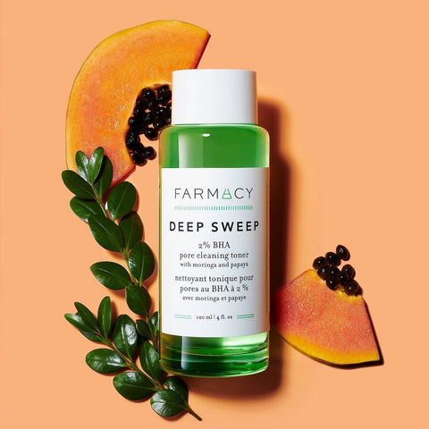 FARMACY Deep Sweep 2% BHA Pore Cleaning Toner with Moringa + Papaya