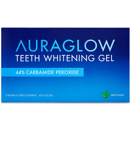 Gel de blanchiment des dents AuraGlow 44% - Beautyshop.fr