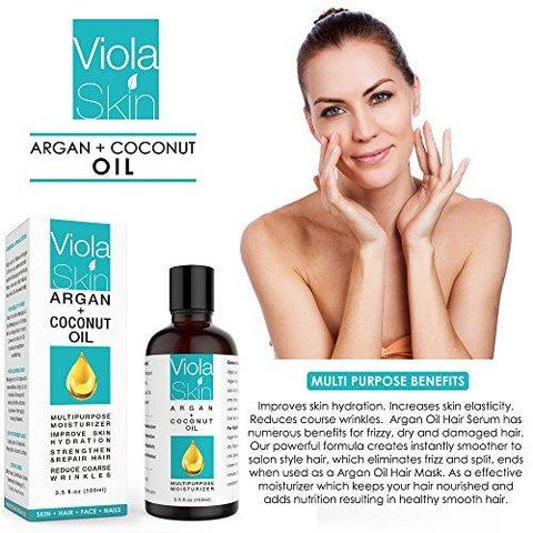 Viola Skin NATURAL Oil Argan Oil & Coconut Oil - Beautyshop.ie