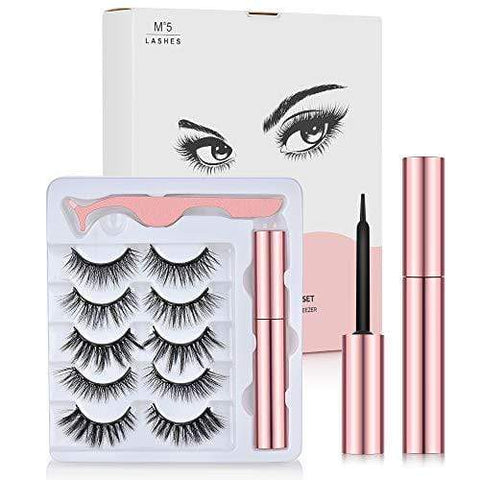 Upgraded 3D Reusable Magnetic Eyelashes Kit (5 Pairs) - No Glue Needed - Beautyshop.ie