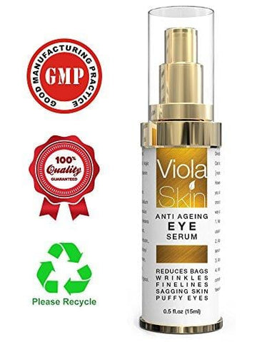Viola Skin Anti Ageing Eye Serum for Dark Circles & Puffiness - Beautyshop.ie