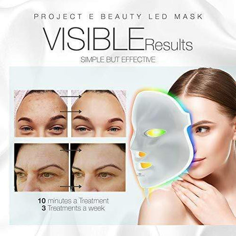 Project E Beauty Skin Rejuvenation Photon Mask | 7 koloretako LED fotoi argien terapia - Beautyshop.ie