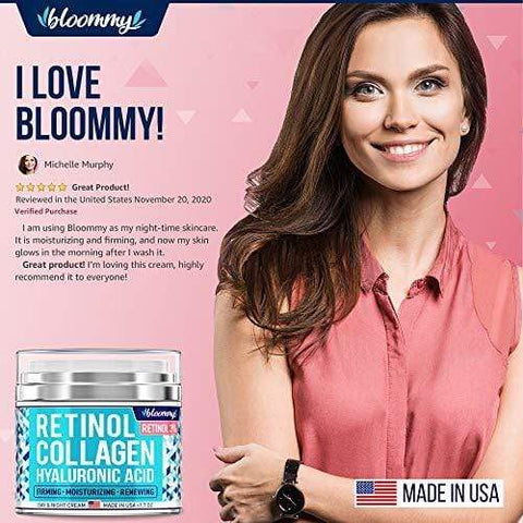 BLOOMMY Retinol Collagen Hyaluronic Acid - Сделано в США - 50 мл - Beautyshop.ie