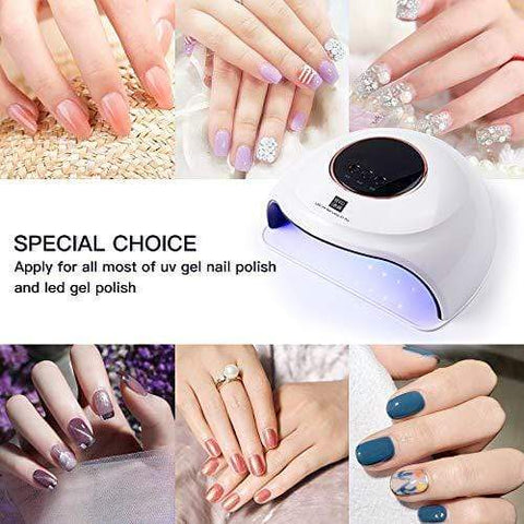 USB UV LED Nail Curing Lamp with 3 Timers Auto Sensor LED Digital Display - Beautyshop.ie