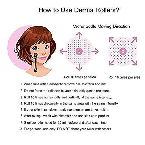 Derma Roller 2er Pack 0.25 mm & 0.5 mm Micro 540 Facial - Beautyshop.ie