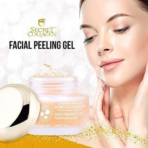 Gel exfoliante facial de colágeno secreto - 50ml - Beautyshop.es