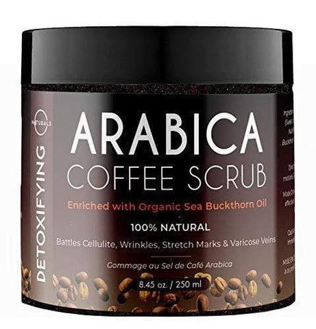 O Naturals Anti-Cellulite Exfoliating Organic Coffee Arabica, Dead Sea Salt Scrub - (250ml)
