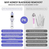 LED Pore Vacuum with Hot Cold Compress 5 Adjustable Suction Power & 5 Replacement Probes USB Rechargeable - Beautyshop.ie
