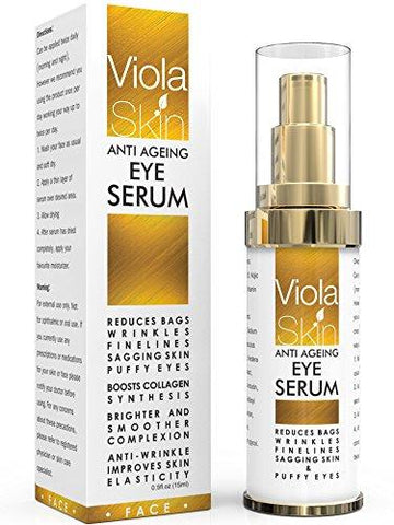 Viola Skin Anti Aging Eye Serum för Dark Circles & Puffiness - Beautyshop.se