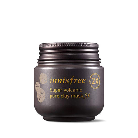 Innisfree Super Volcanic Pore Clay Mask, 2 x Masks (100ml) - Beautyshop.ie