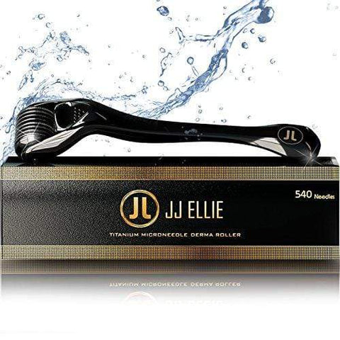 Black/Gold Derma Roller - 540 Titanium Needles Skin Roller 0.25mm, Includes Storage Case - Beautyshop.ie
