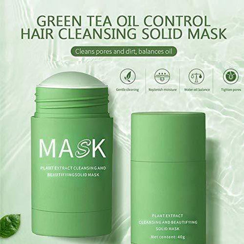 Purifying Solid Green Clay Stick Mask for Facial Set - 2 Piece - Beautyshop.ie