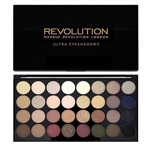 Revolution Shimmers and Matte Nudes Ultra 32 Eyeshadows Flawless Palette - Beautyshop.fr