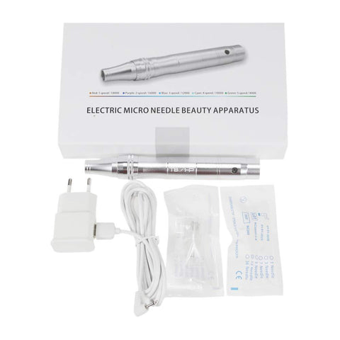 TBPHP Rose Gold or Silver DermaPen for Microneedling, Wireless and Rechargable