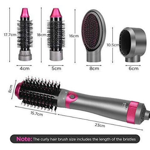 5-in-1 Hot Air Brush Hot Air Styler With Temperature and Wind Speed Adjustment - Beautyshop.ie