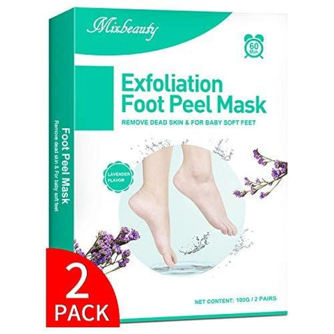 Foot Peel Lavender Mask 2 Pack, Mascarilla exfoliante para pies